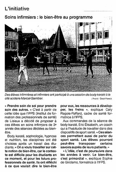 IFPS Lisieux séances bien-être Marcel Gambier