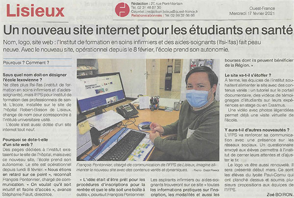 IFPS Lisieux Site internet article Ouest France