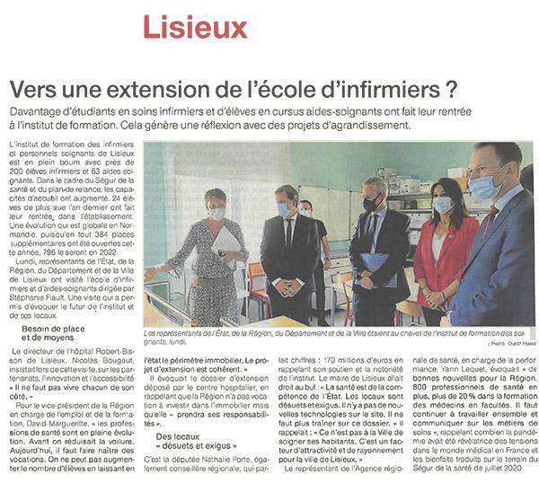 Vers une extensions de l'IFPS école d'infirmiers de Lisieux ?