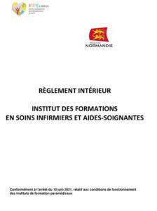Règlement intérieur IFSI IFAS 2021-2022